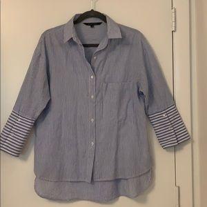 Walter Baker Oversize Pinstripe Shirt XS